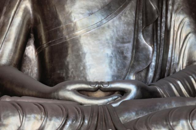 Silver Buddha Jing'an Temple Shanghai; China
