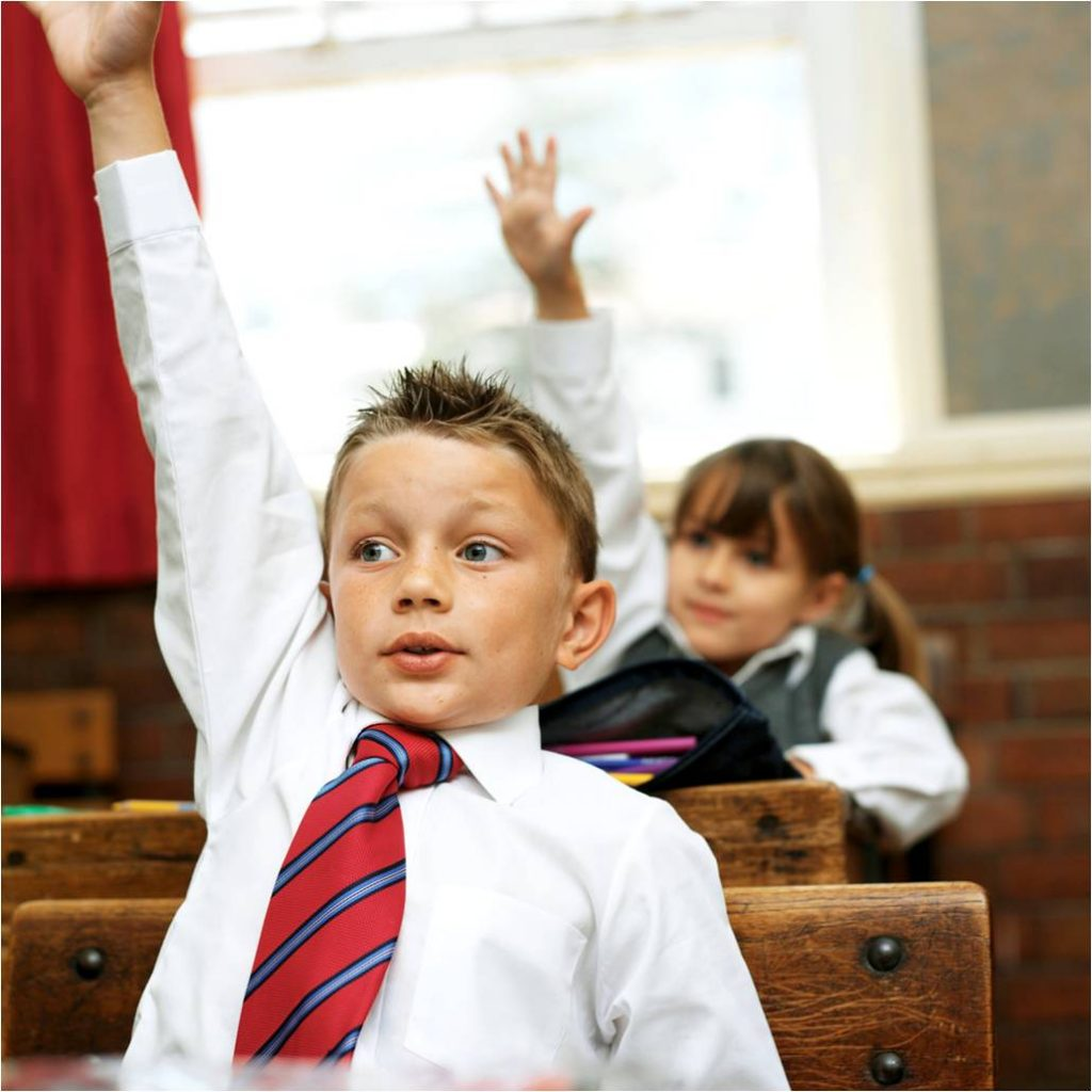child-ask-question-raise-hand-school