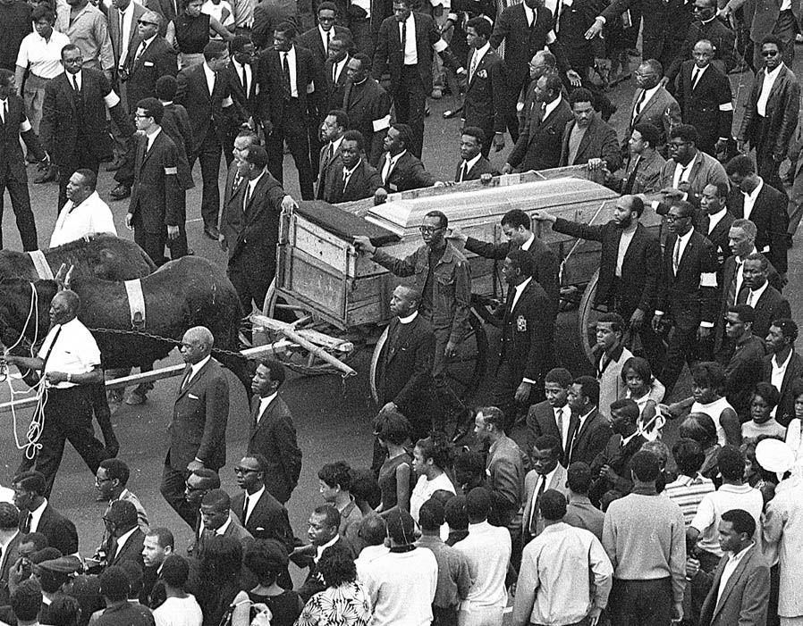 Martin Luther King Funeral Seek an End to Bondage